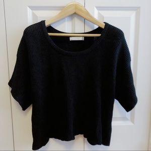 MinkPink Oversized Black Knit Sweater